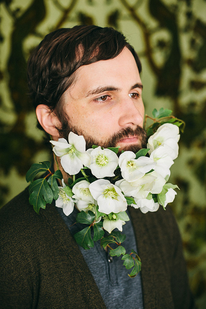 A New Boho Chic Style For Men Flowers In Beards