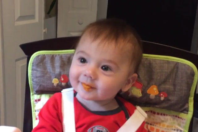 When A Baby Tastes Food For The First Time…