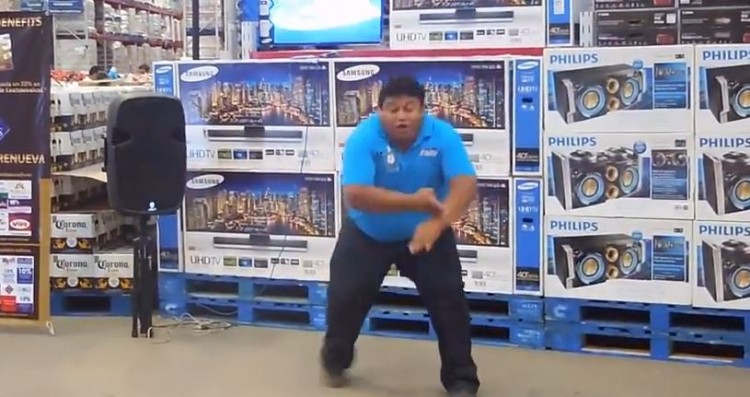 Warehouse Worker Makes That Shopping Trip A Little More Exciting With His Dance Moves