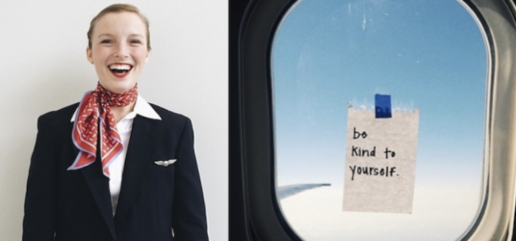This Awesome Flight Attendant Spreads Love To Flight Passengers In The Absolute Sweetest Way