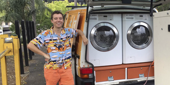 Two Awesome Guys Have Converted Their Van Into A Mobile Laundromat For The Homeless