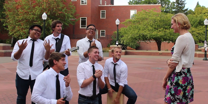 Sweetest Prank In The History Of Pranks: Guy Serenades College Girls