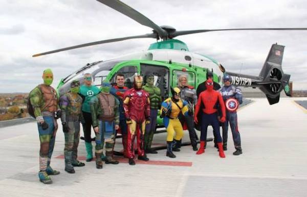 SWAT Team Dresses As Superheroes And Brings Smiles To A Children's Hospital