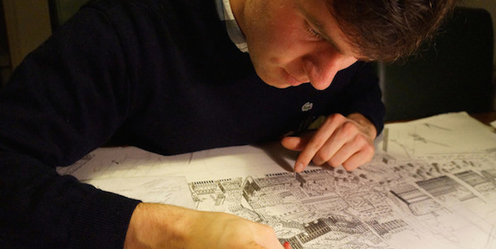 Crazily Amazing Talent: This Man Has The Ability To Draw Detailed Cityscapes Completely From Memory