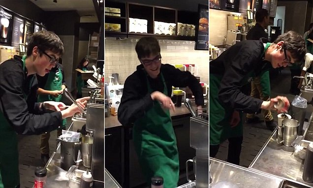 Sam The Dancing Barista Brings So Much Excitement To His Local Starbucks