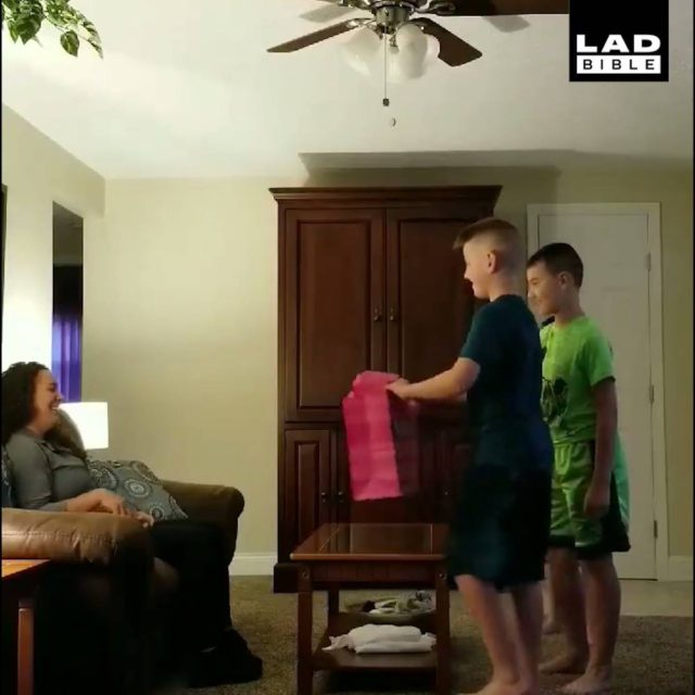 3 Little Boys Help Dad Pop The Question
